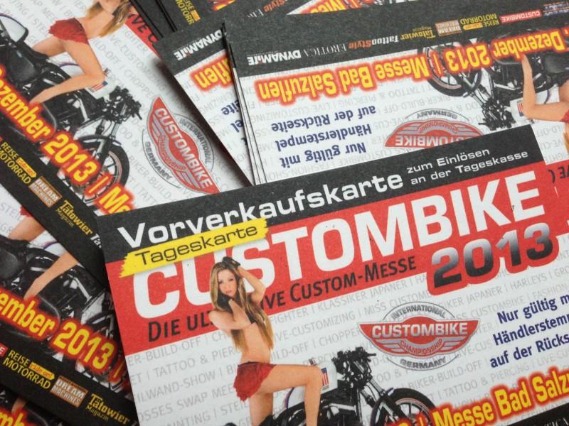 Custombike 2013 Die Gewinner der Freikarten