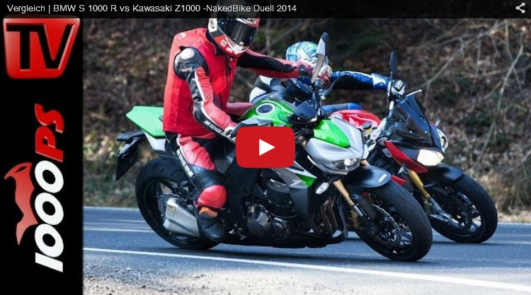 BMW S1000 vs. Kawasaki Z1000